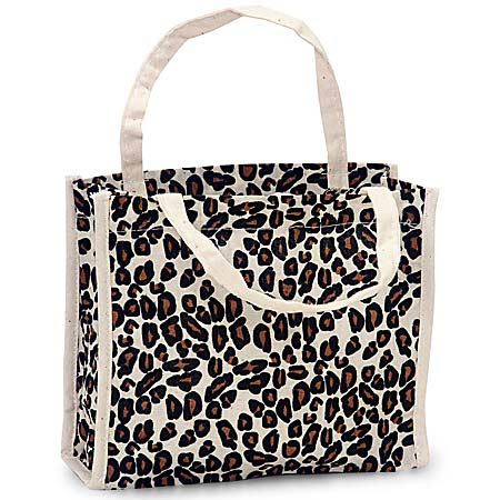 Leopard Mini Tote 7x2 1 4x6 Inch 100 Cotton With Handle